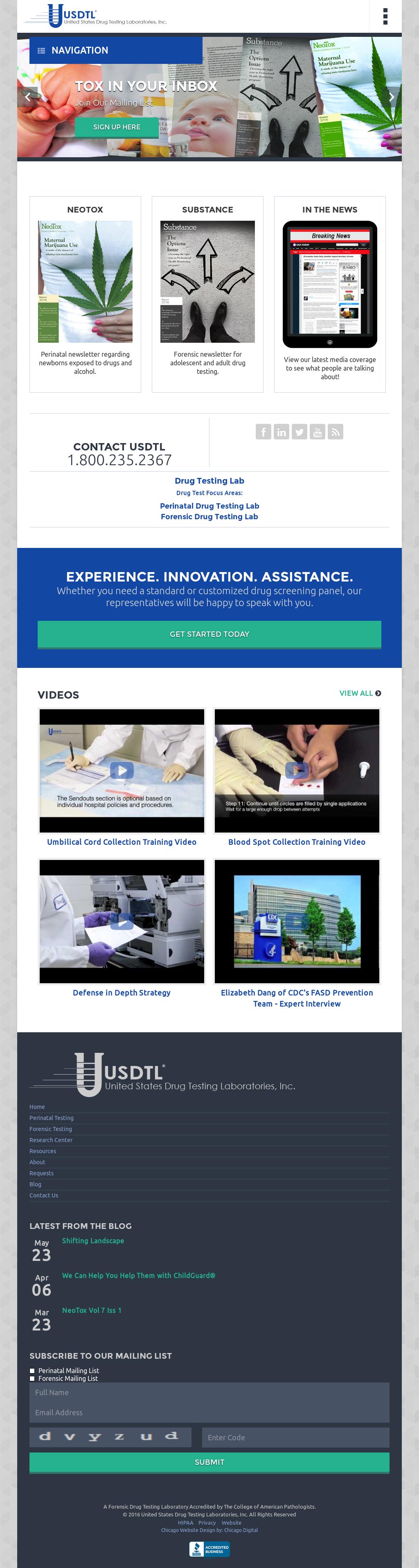 United States Drug Testing Laboratories Competitors, Revenue