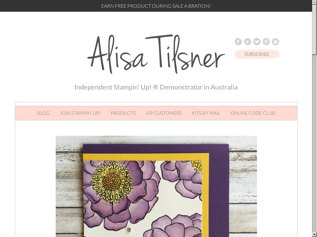 Alisa Tilsner, Indpendent Stampin' Up! Demonstrator