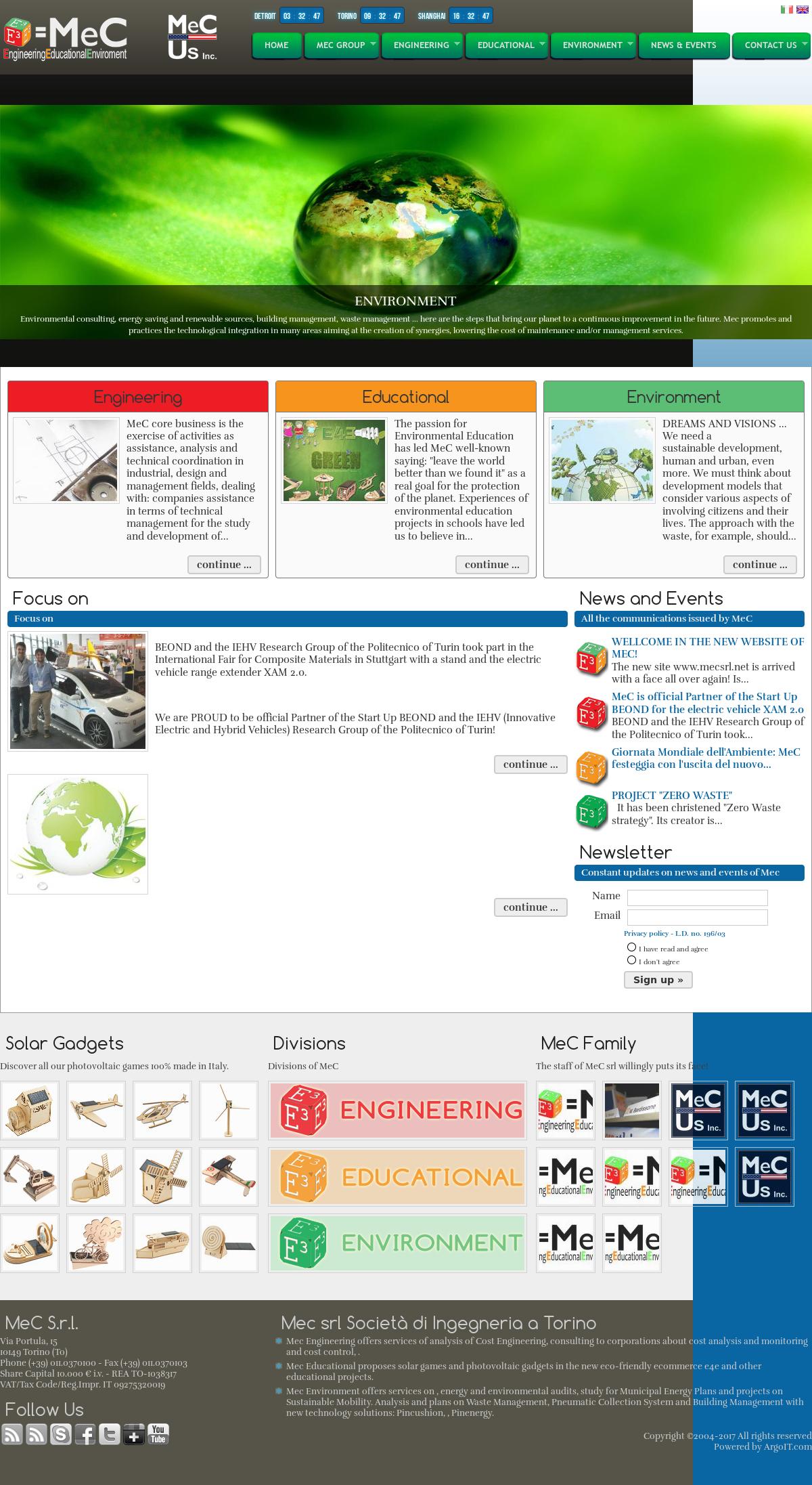 Mec website