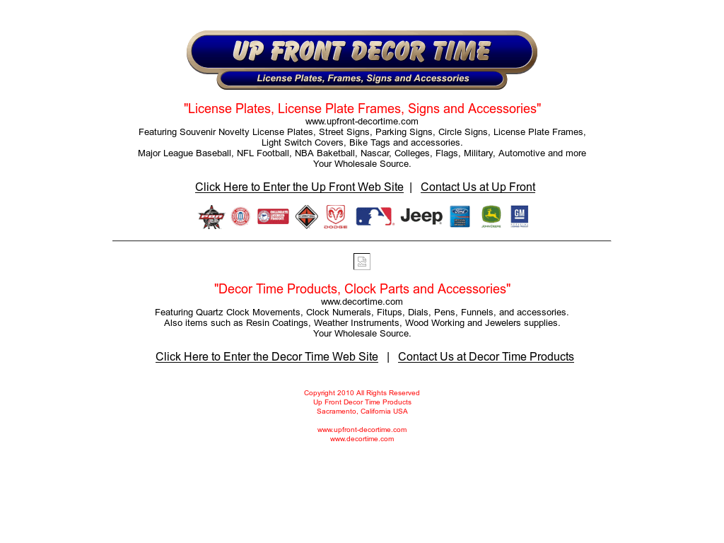 Up Front Decor Time Competitors, Revenue and Employees