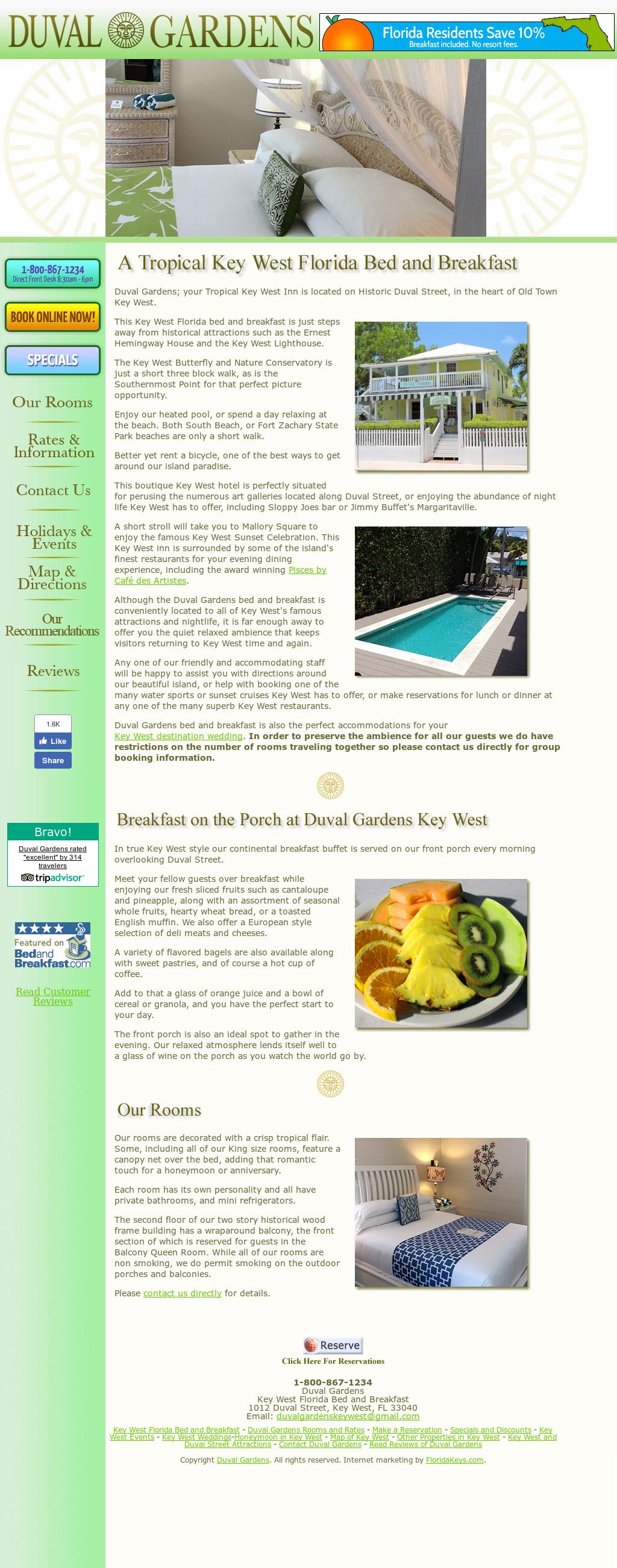 Duval Gardens Website History