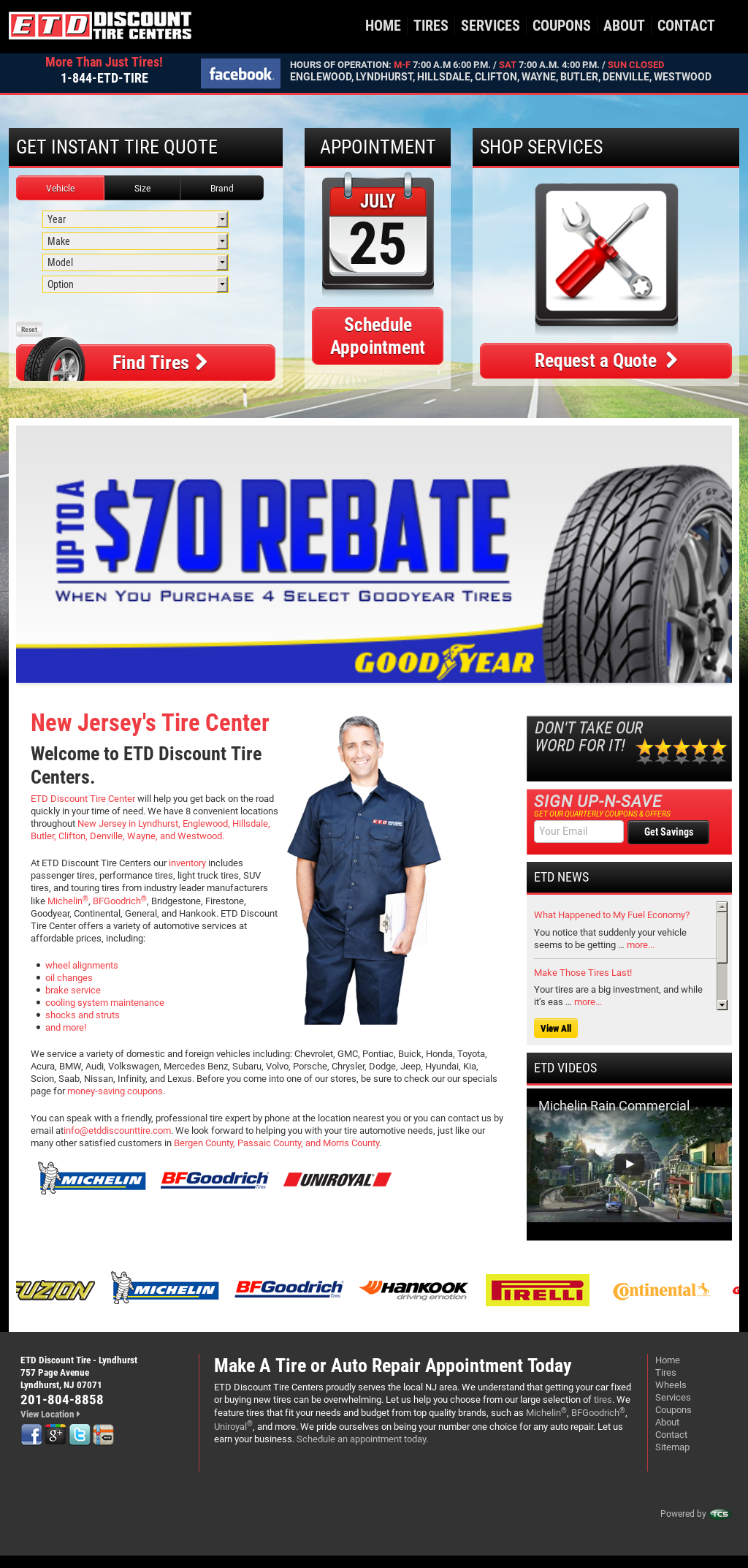 ETD Discount Tire Centers Competitors, Revenue and Employees