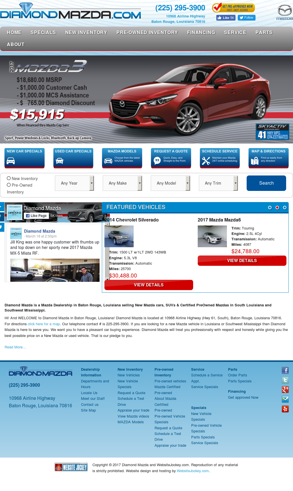 Diamondmazda Website History