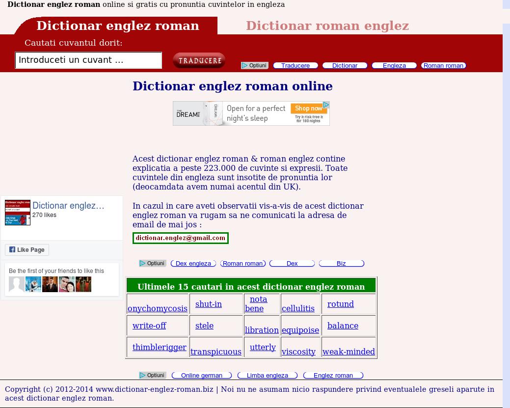 Dictionar englez roman pronuntie