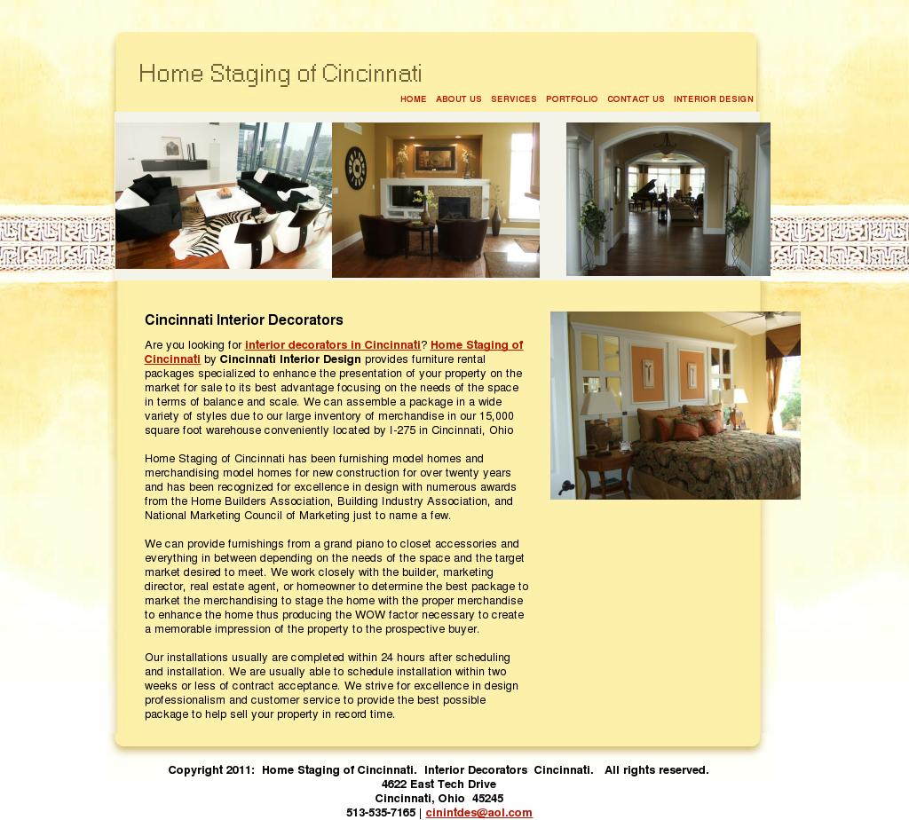 Home Staging Of Cincinnati Website History