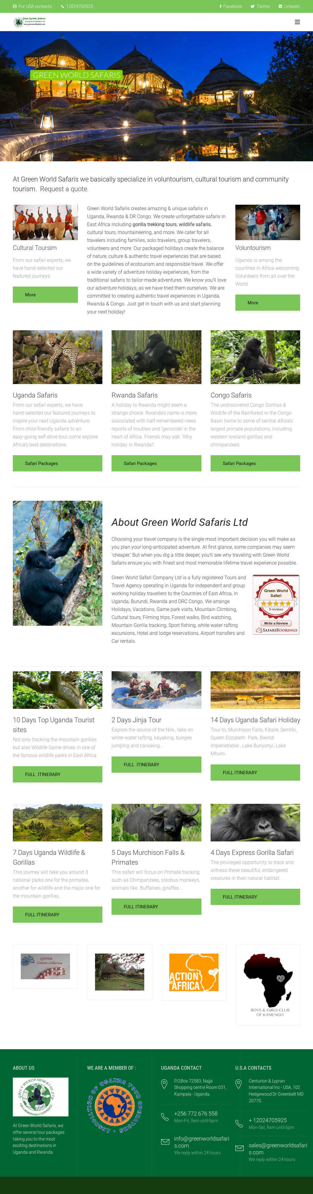 Green World Safaris Competitors Revenue And Employees Owler