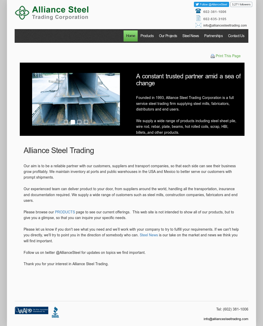 Alliance Steel Trading Competitors, Revenue and Employees