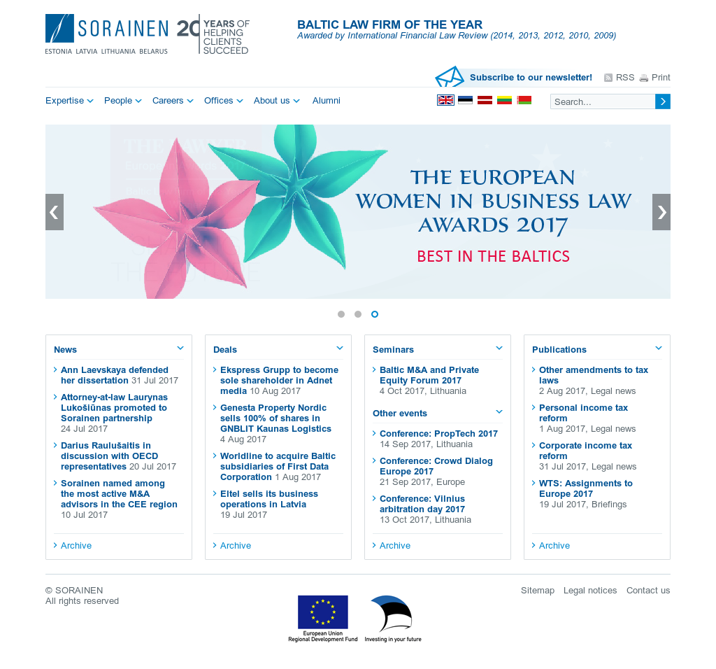 Sorainen Competitors, Revenue and Employees - Owler Company Profile