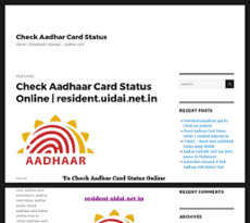 resident uidai net in check aadhaar status