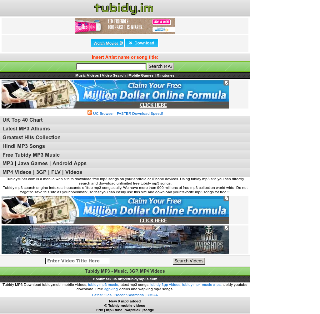 tubidy mobile video music search