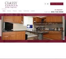 Classy Closets Etc Website History