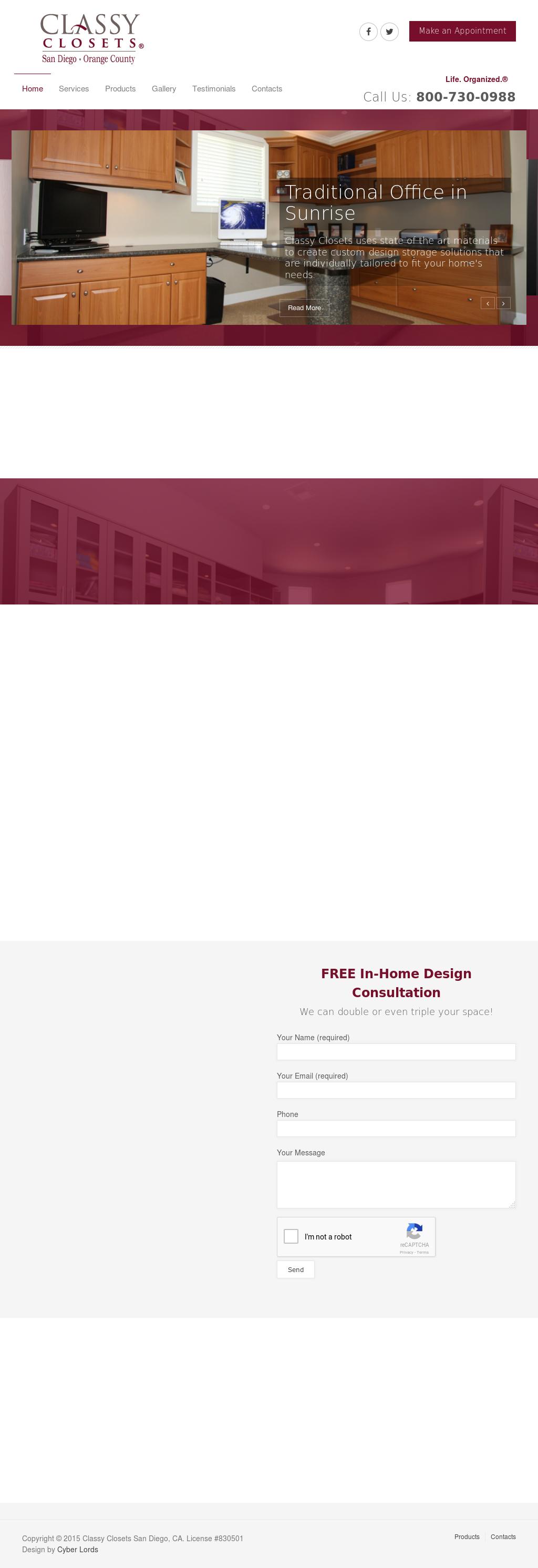 Classy Closets Etcu0027s Website Screenshot On Sep 2017