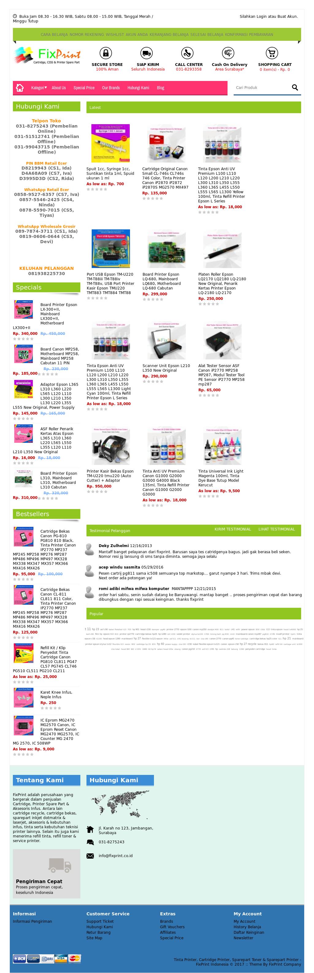 Fixprint Competitors Revenue And Employees Owler Company Profile Asf Roller Penarik Kertas Epson L110 L210 L300 L350 Original New Fixprints Website Screenshot On Jul 2017