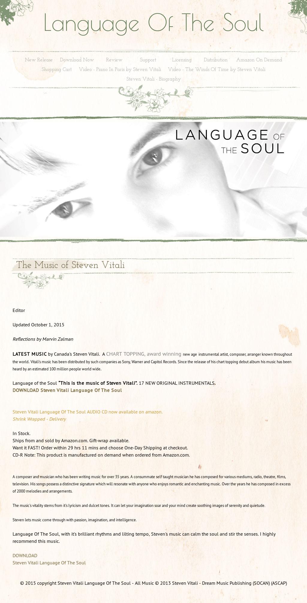 Steven Vitali Language Of The Soul Competitors, Revenue and