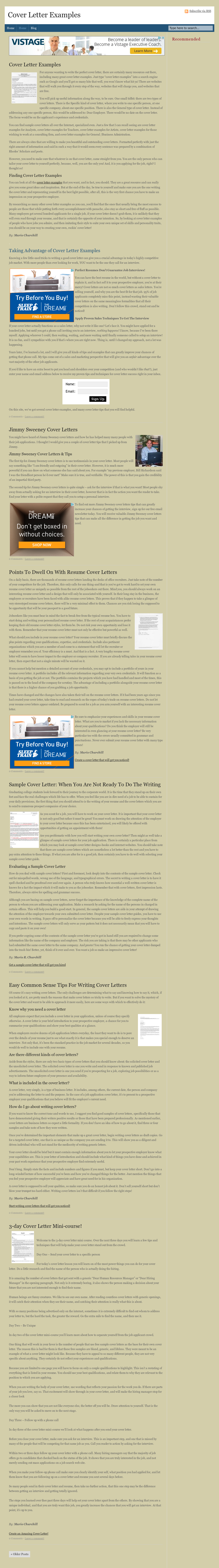 Cover Letter Examples Competitors, Revenue and Employees ...