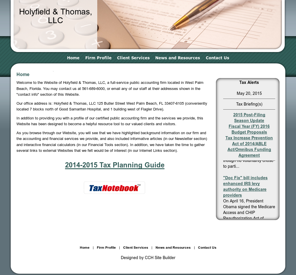 Holyfield & Thomas Competitors, Revenue and Employees