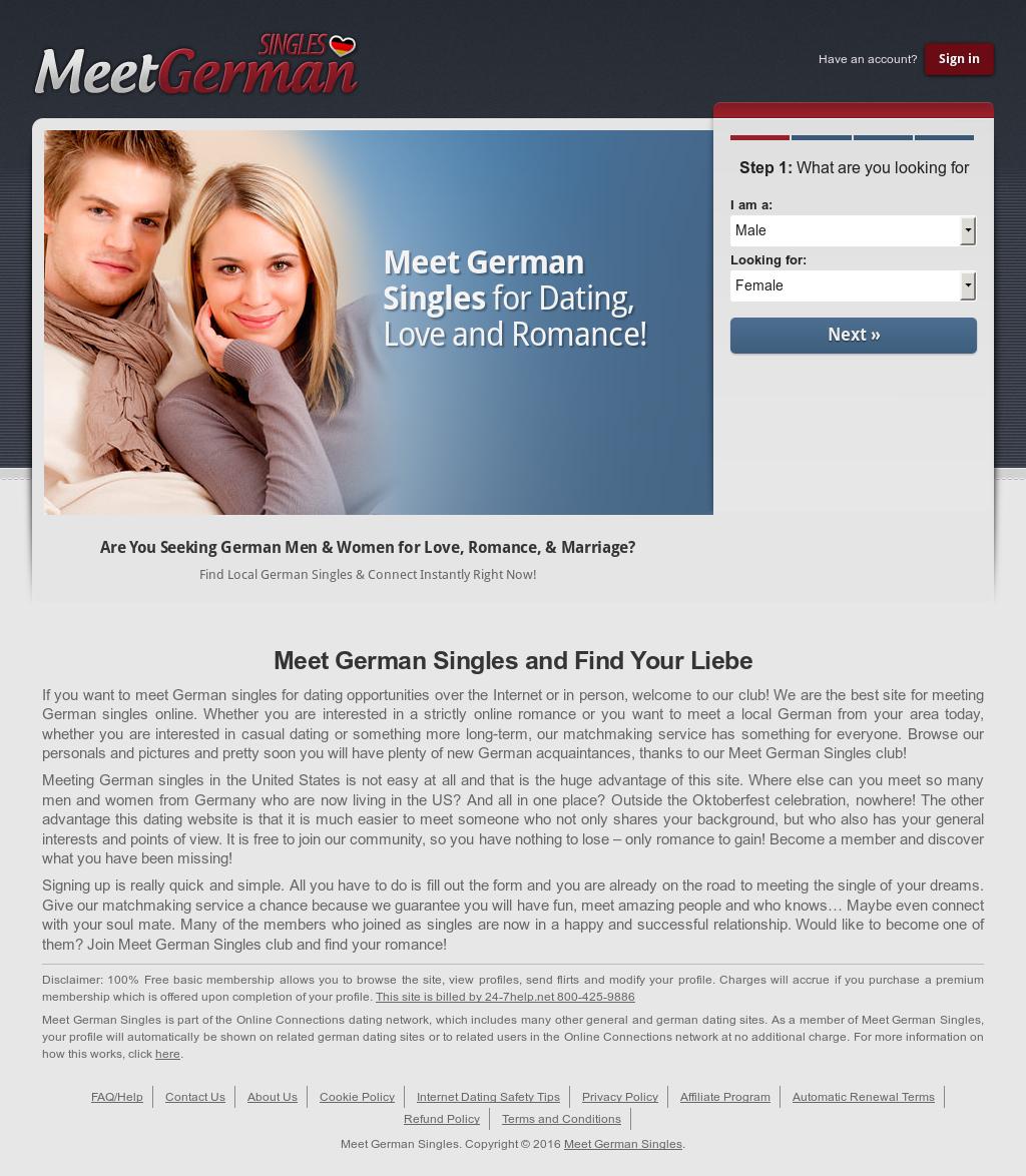 german singles free dating site