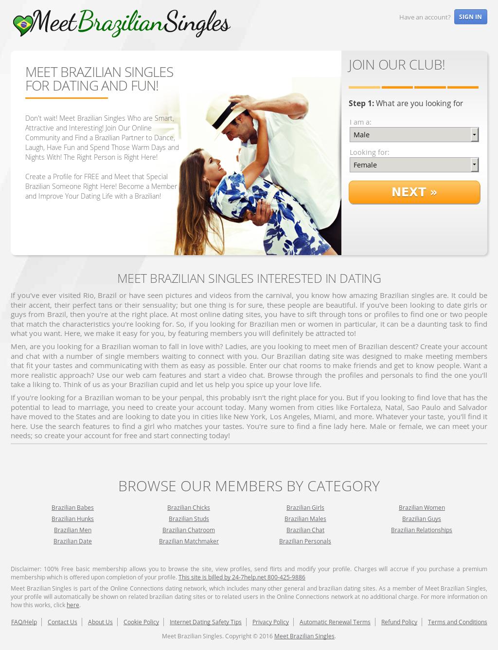free brazilian dating sites online