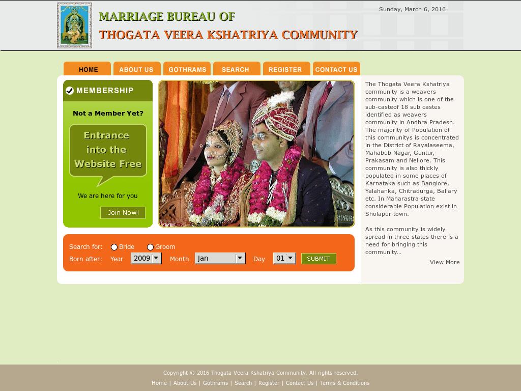 Thogata Veera Kshatriya Community Competitors, Revenue and Employees