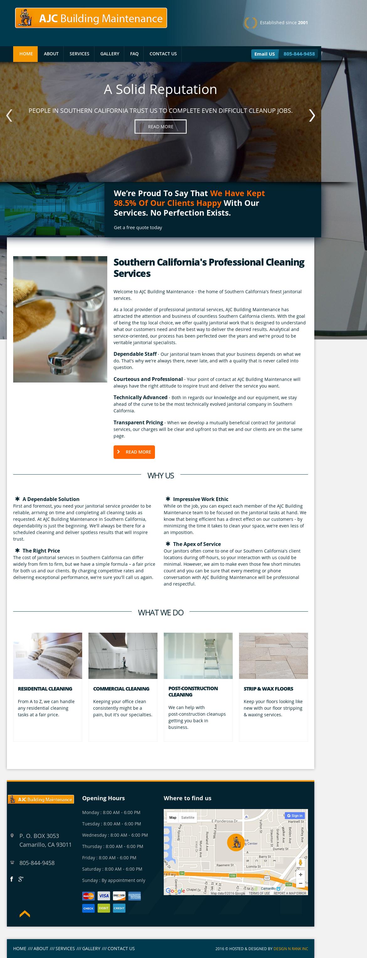 Ajc Building Maintenance Competitors, Revenue and Employees