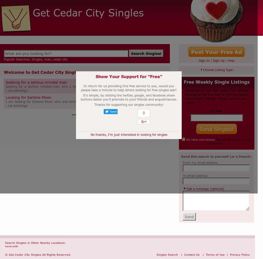 Cedar city singles