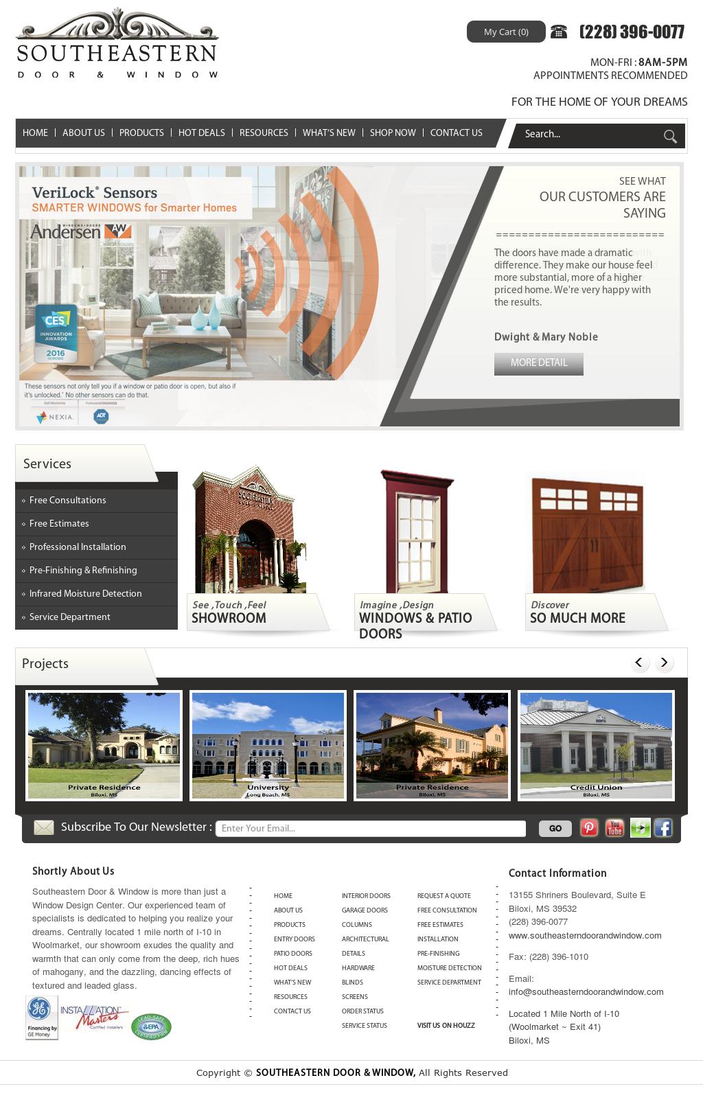 Southeastern Door U0026 Window Website History