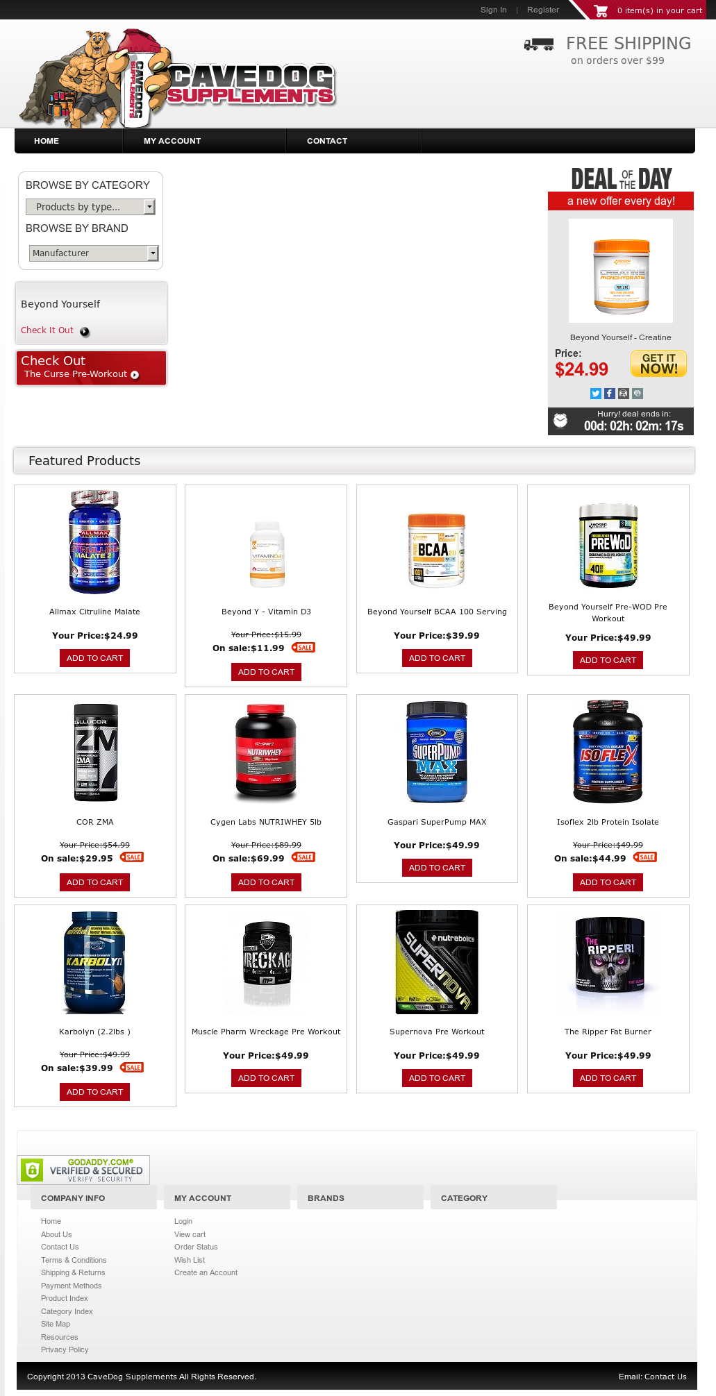 Cavedog Supplements Competitors, Revenue and Employees - Owler