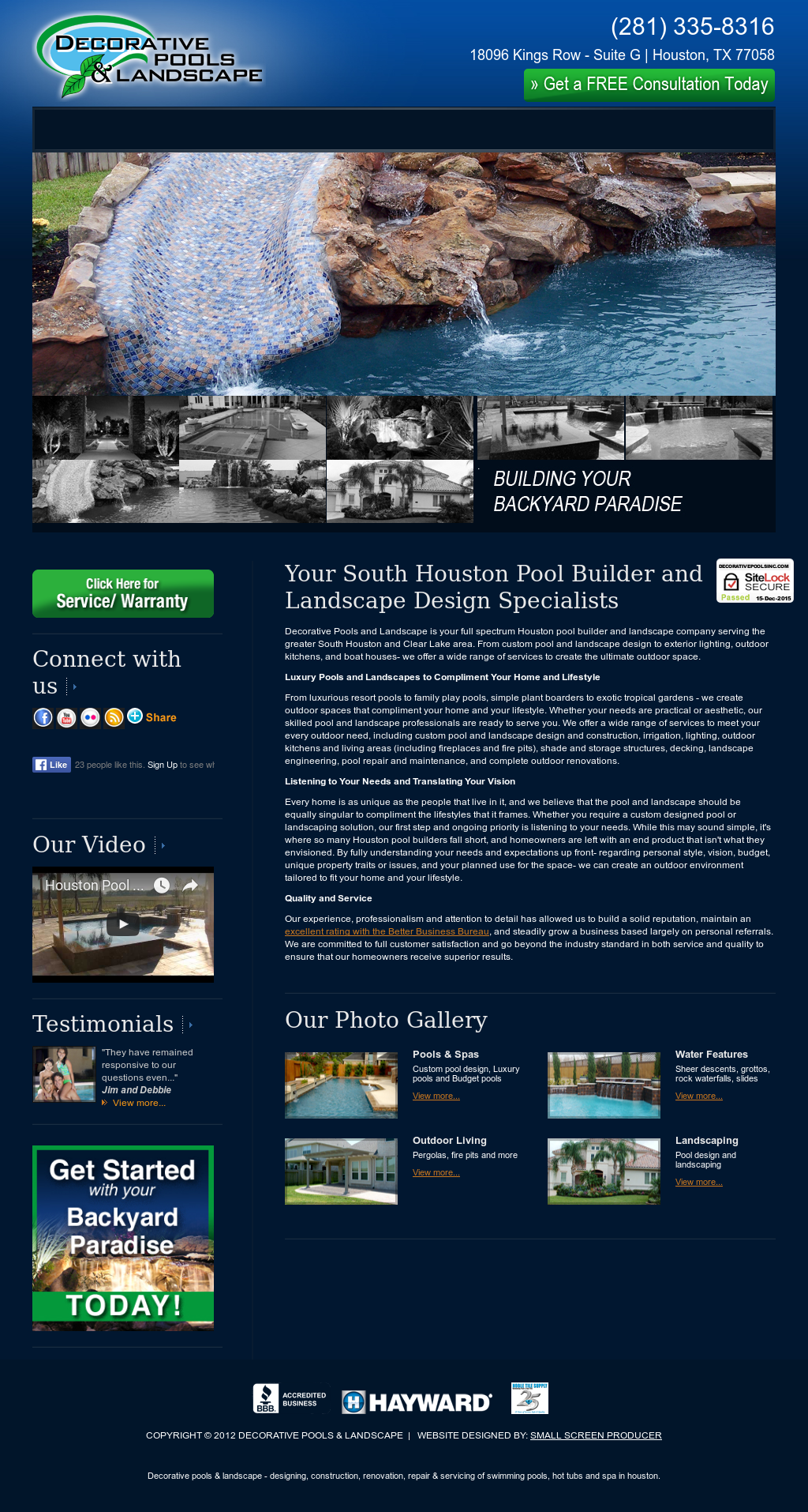 Decorative Pools Landscape Compeors Revenue And Employees Owler Company Profile