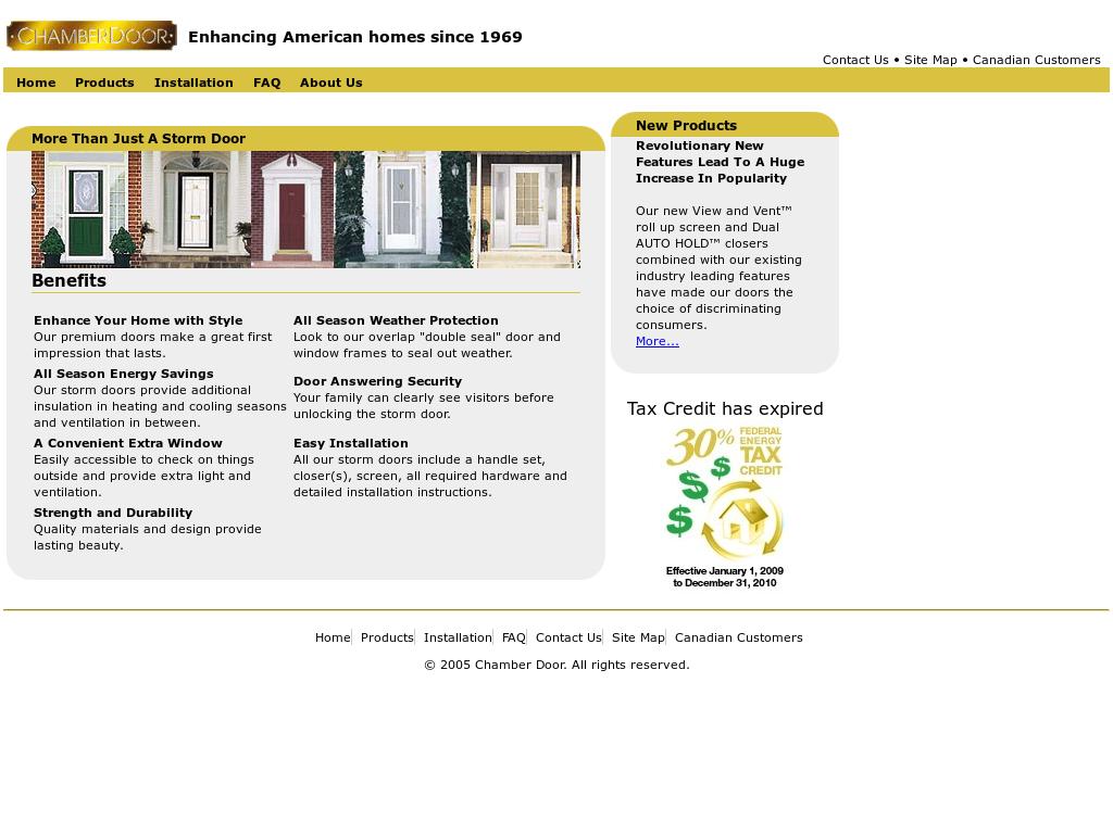 Chamber Door Website History