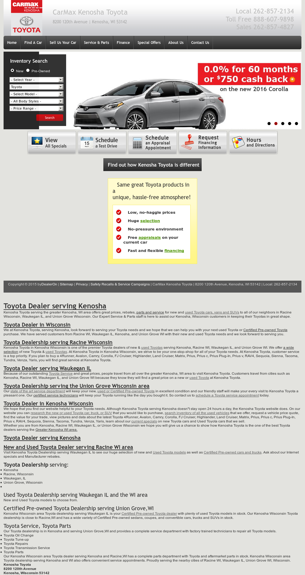 Carmax Kenosha Toyota Compeors Revenue And Employees Owler Company Profile