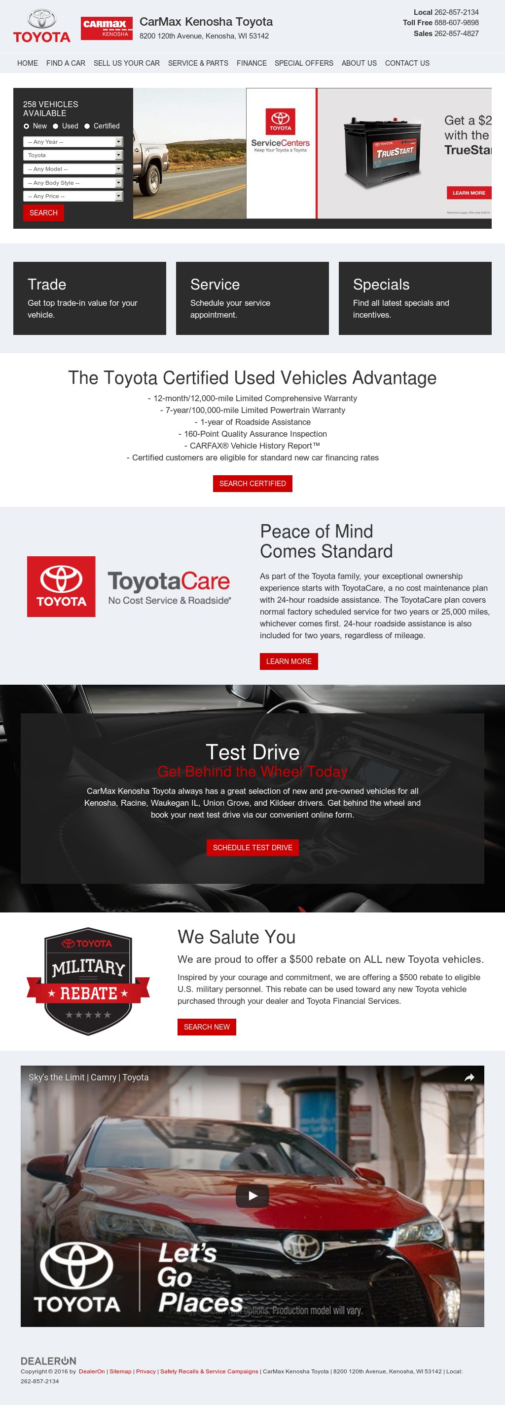 Carmax Kenosha Toyota petitors Revenue and Employees Owler