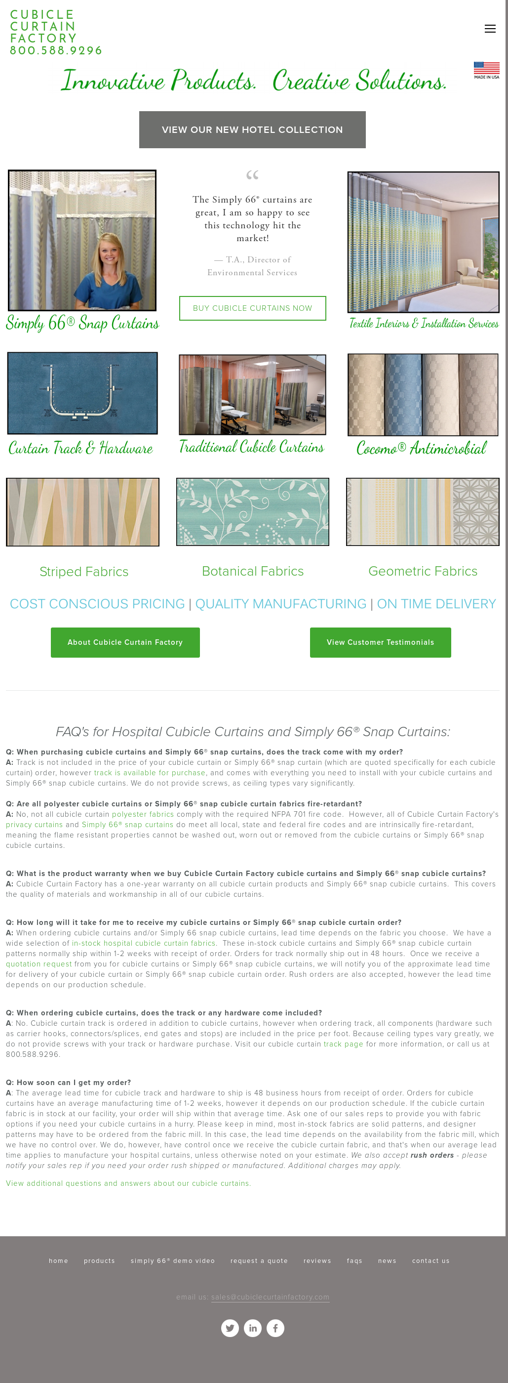 Cubicle Curtain Factory Website History